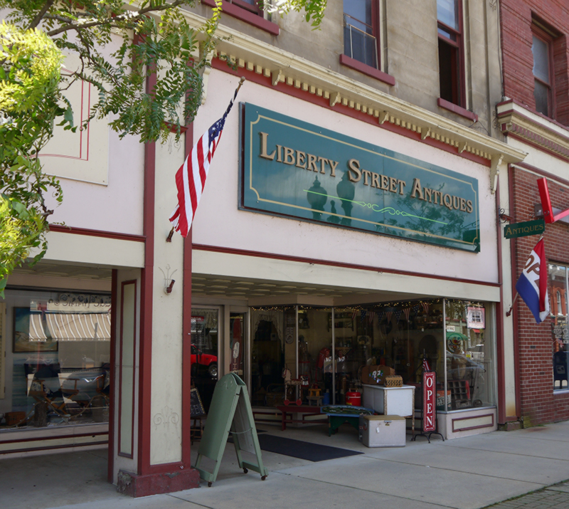 Liberty Street Antiques in downtown Franklin, Pa